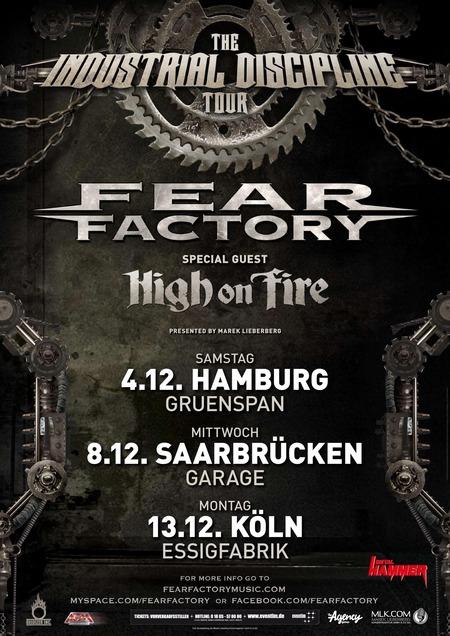 FEAR FACTORY auf Dezember-Tour