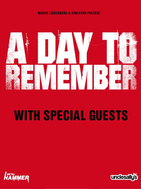 A DAY TO REMEMBER: Die Tourdaten für Deutschland