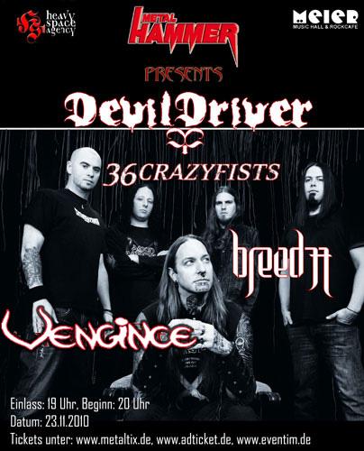 36 CRAZYFISTS / DEVILDRIVER auf gemeinsamer Tour!