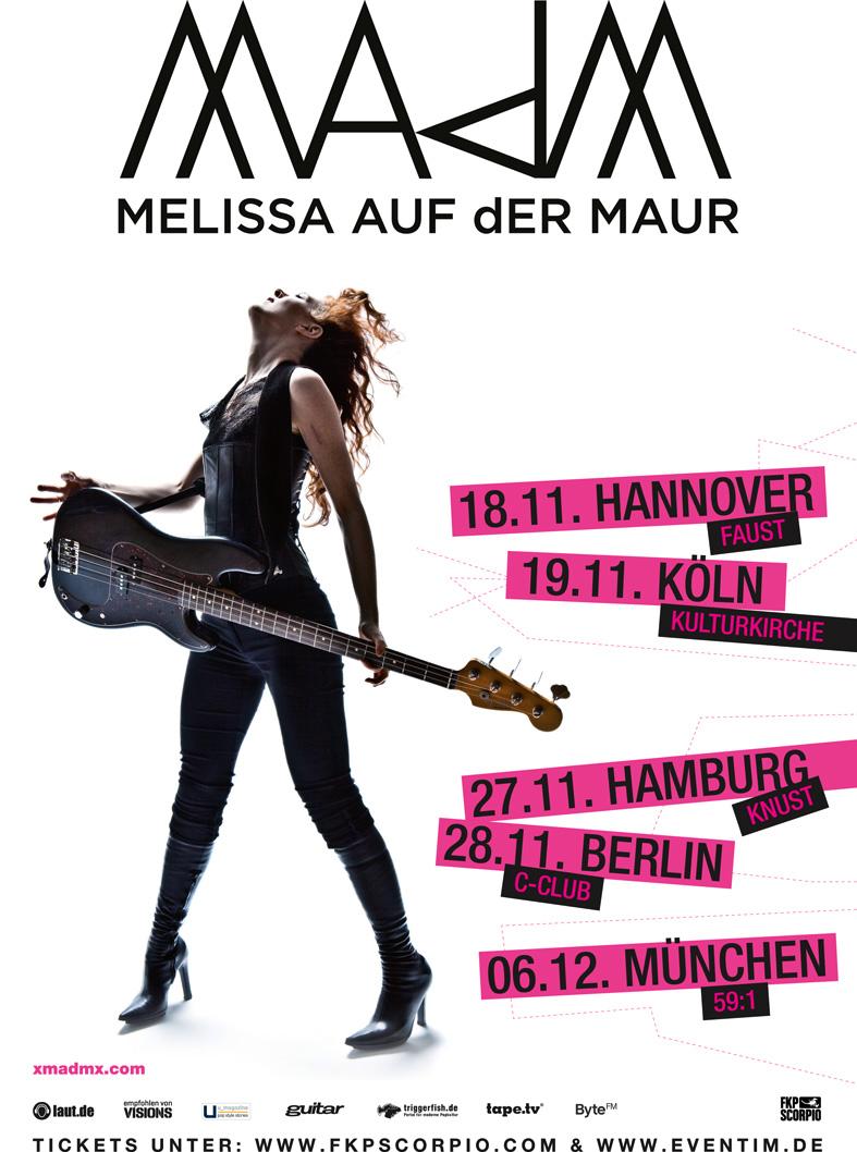 MELISSA AUF DER MAUR auf Tour