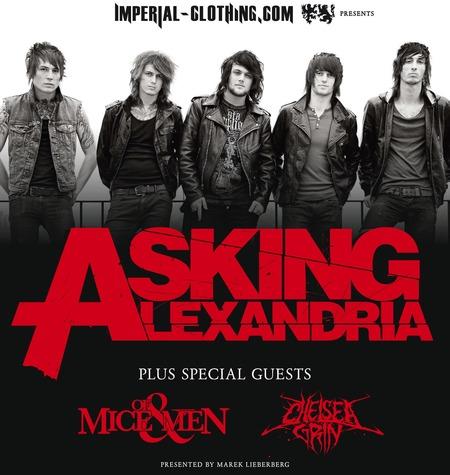 ASKING ALEXANDRIA im April bei uns auf Tour!