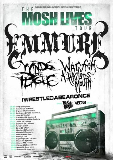 THE MOSH LIVES TOUR mit EMMURE, WINDS OF PLAGUE u.a.