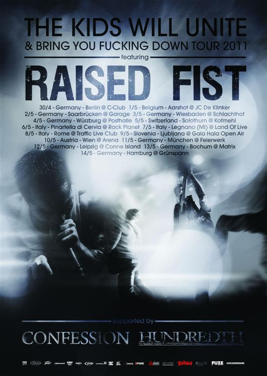 RAISED FIST, CONFESSION, HUNDREDTH, Hamburg, Gruenspan, 14.05.2011