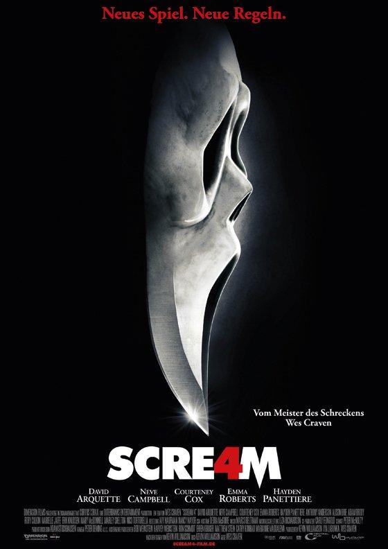 SCREAM 4: Bald wird wieder geschnetzelt! Ghostface ist zurück!