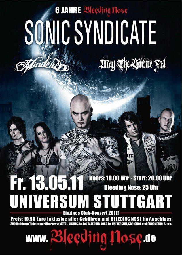 SONIC SYNDICATE: Einzige Clubshow 2011 in Stuttgart