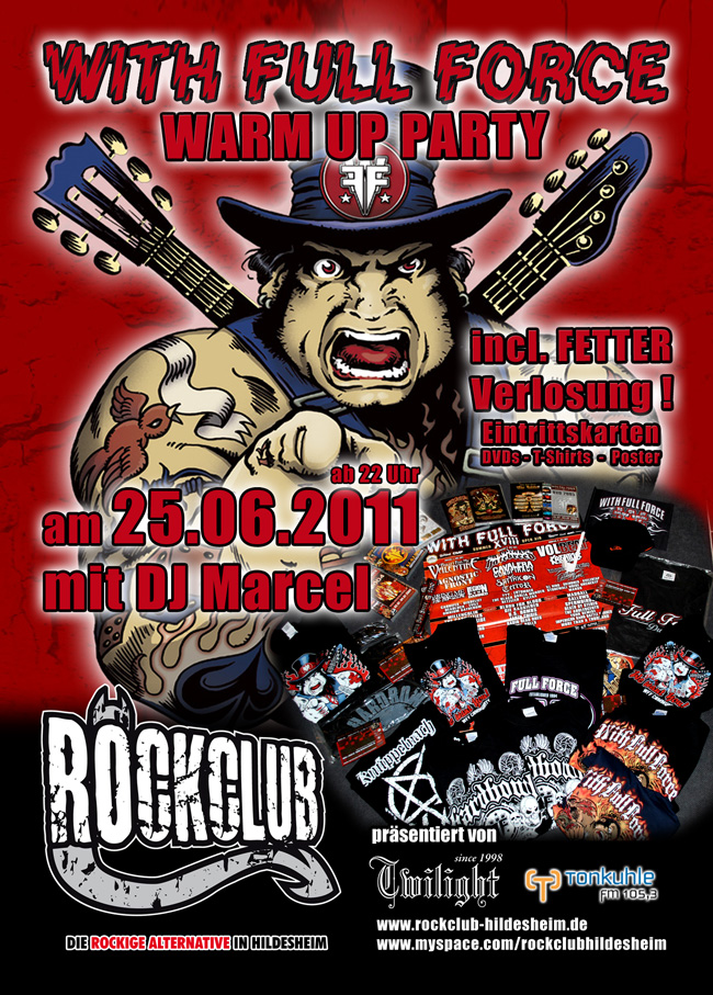 WITH FULL FORCE Warm-Up-Party im ROCKCLUB Hildesheim