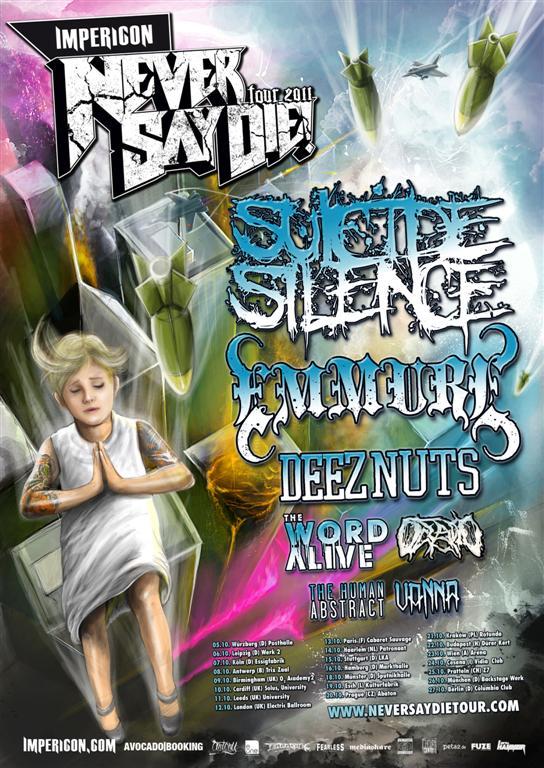 Details zur kommenden IMPERICON NEVER SAY DIE! TOUR 2011