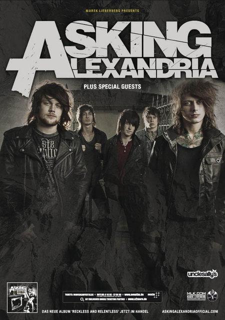 ASKING ALEXANDRIA: Tourdaten für Anfang 2012