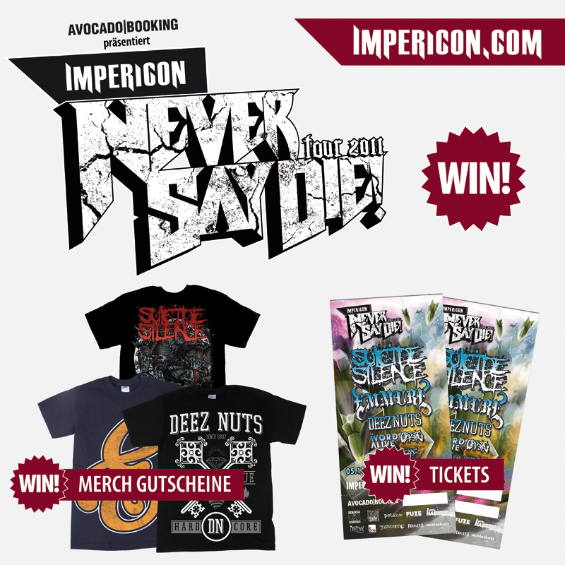 IMPERICON NEVER SAY DIE TOUR-Verlosung