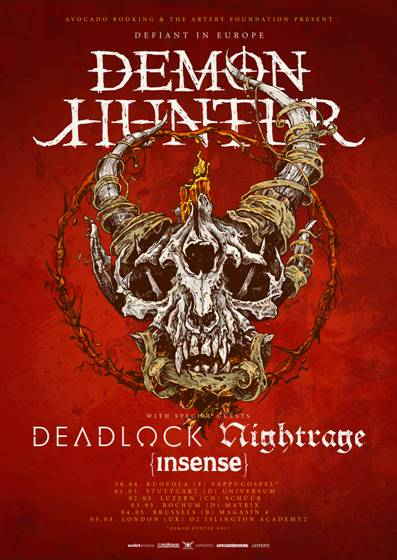 DEMON HUNTER touren mit DEADLOCK u.a.