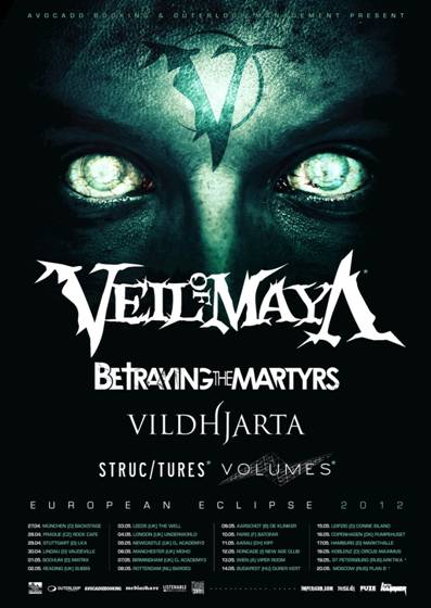 VEIL OF MAYA mit BETRAYING THE MARTYRS, VILDHJARTA und Co. auf Tour