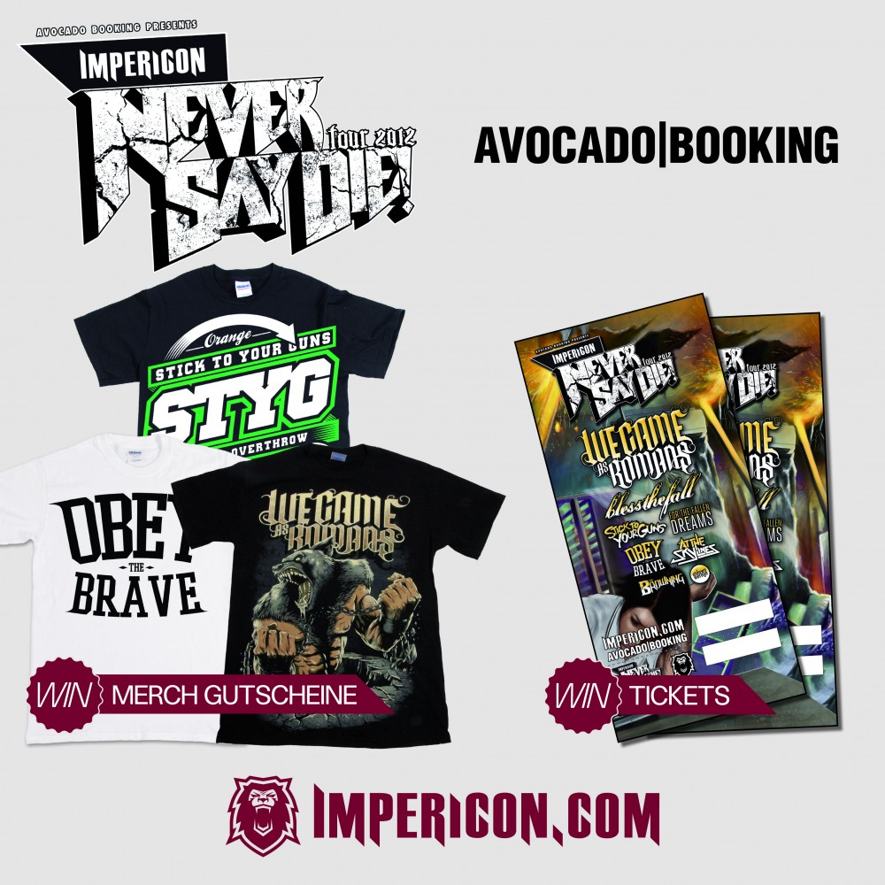 IMPERICON NEVER SAY DIE TOUR 2012-Verlosung