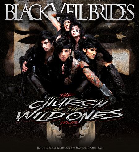 BLACK VEIL BRIDES im April 2013 auf Tour