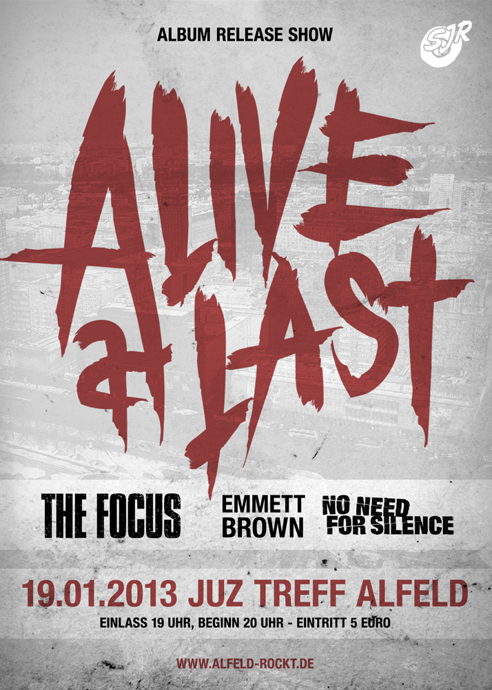 ALIVE AT LAST: Releaseshow am 19.01.2013! Ticketverlosung!