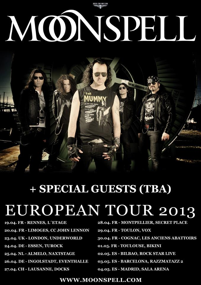MOONSPELL – Headliner-Tour durch Europa