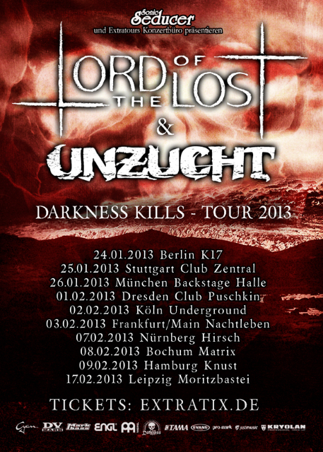UNZUCHT und LORD OF THE LOST auf Co-Headliner-Tour