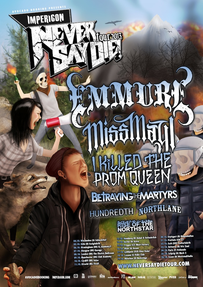 IMPERICON NEVER SAY DIE! TOUR 2013: Bands und Termine