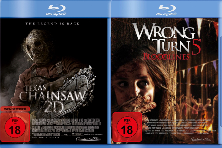 Horror-Verlosung: WRONG TURN 5 und TEXAS CHAINSAW 2D!