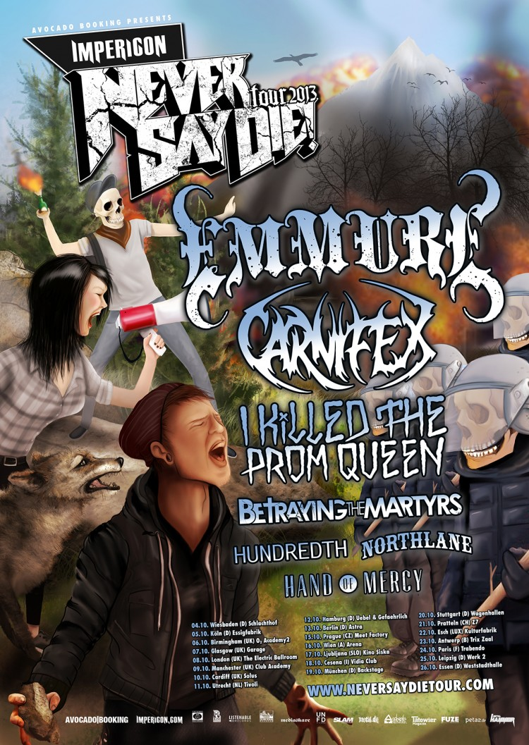 IMPERICON NEVER SAY DIE TOUR: Line-Up-Änderung