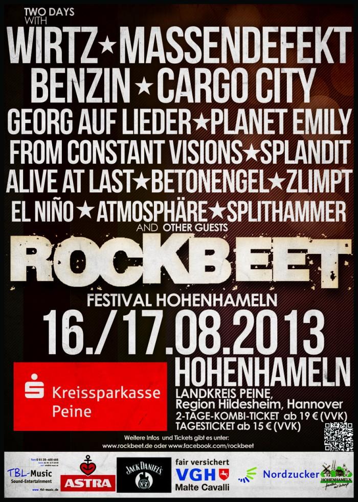 ROCKBEET-FESTIVAL Hohenhameln am 16. und 17.08.2013: Info und Verlosung