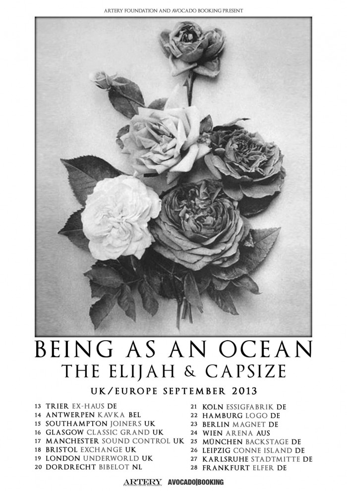 BEING AS AN OCEAN, THE ELIJAH, CAPSIZE, Logo, Hamburg, 22.09.2013