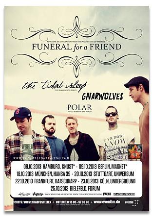 FUNERAL FOR A FRIEND, GNARWOLVES, POLAR, Hamburg, Knust, 08.10.2013