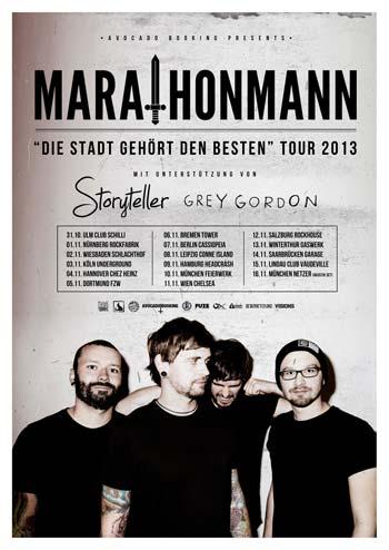MARATHONMANN, STORYTELLER, GREY GORDON, Hannover, Chez Heinz, 04.11.2013
