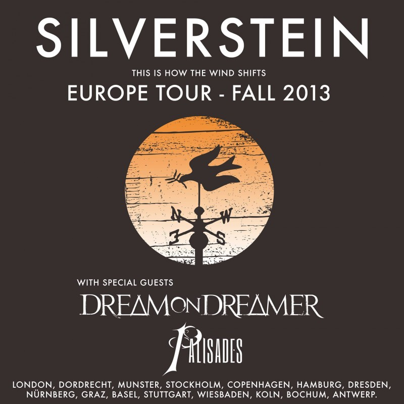 SILVERSTEIN, DREAM ON DREAMER, PALISADES, Hamburg, Knust,  04.12.2013