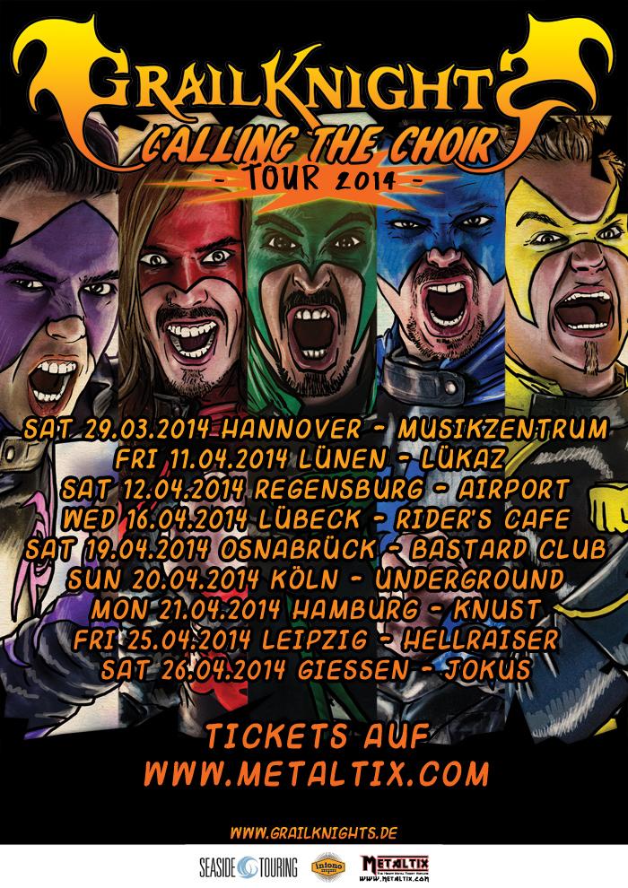 GRAILKNIGHTS neues Album und Deutschlandtour