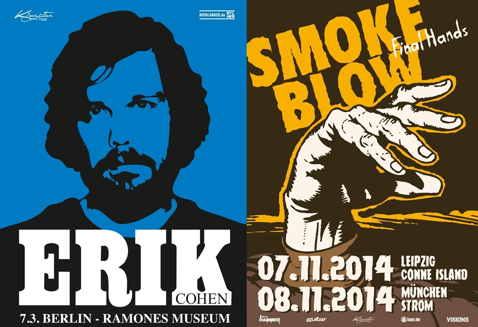 SMOKE BLOW Final Hands 2014 | ERIK COHEN live im Ramones Museum