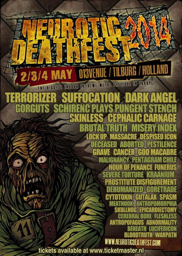 NEUROTIC DEATHFEST 2014: Line-Up komplett!