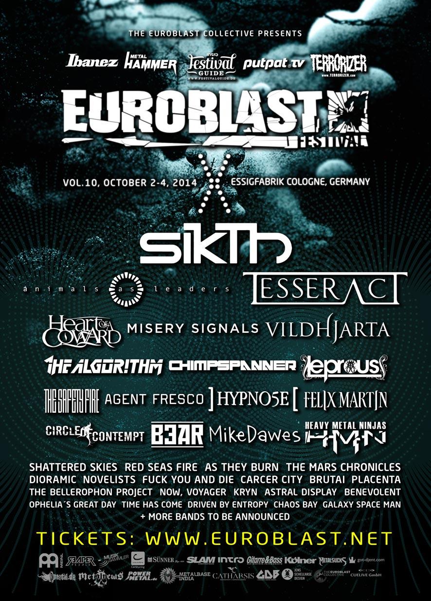 EUROBLAST FESTIVAL X – 2014 / Dritte Bandwelle angekündigt!