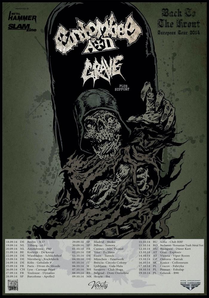 ENTOMBED A.D. und GRAVE auf Tour 2014
