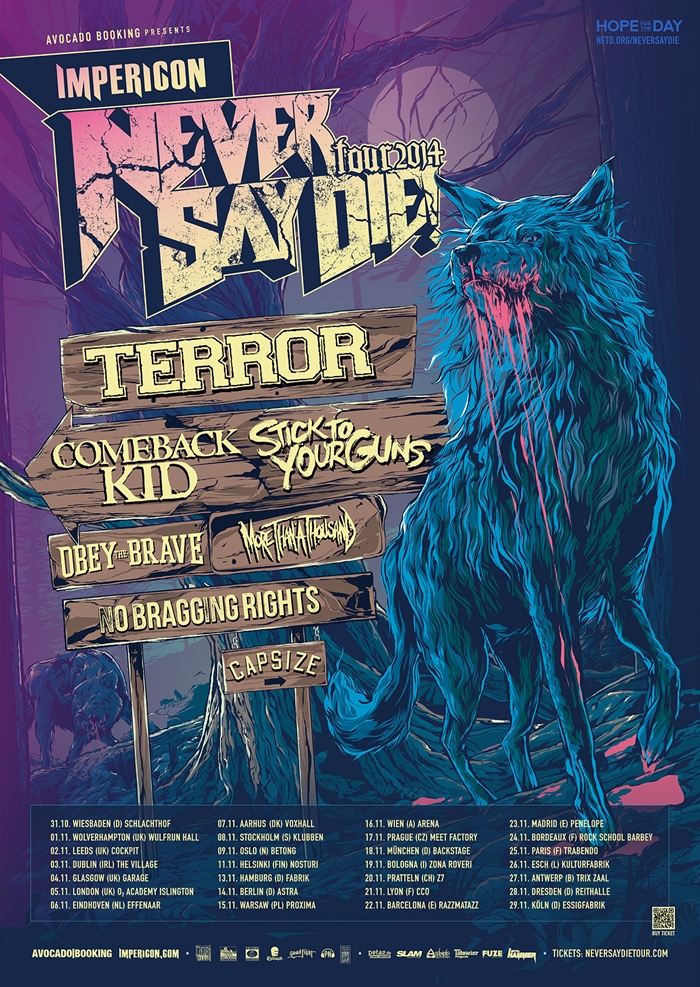 IMPERICON NEVER SAY DIE! TOUR 2014: Die Details