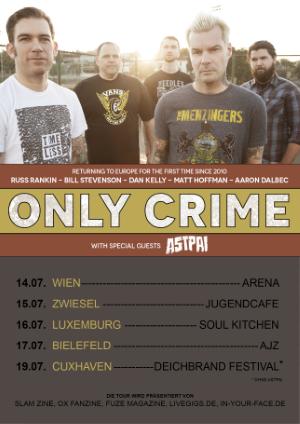 ONLY CRIME – Tour Ersatztermine