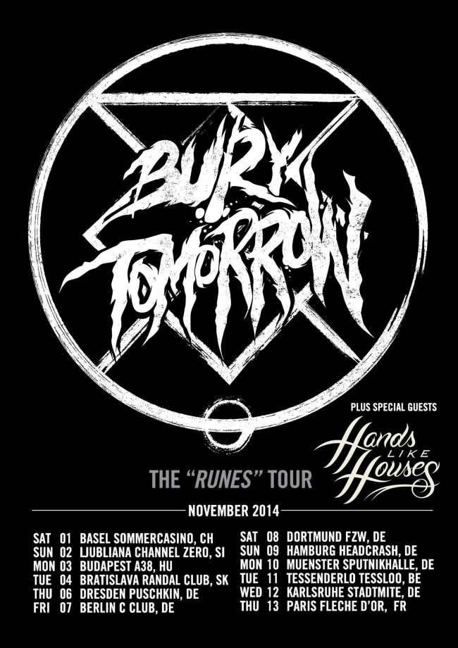 BURY TOMORROW: Tour im November 2014