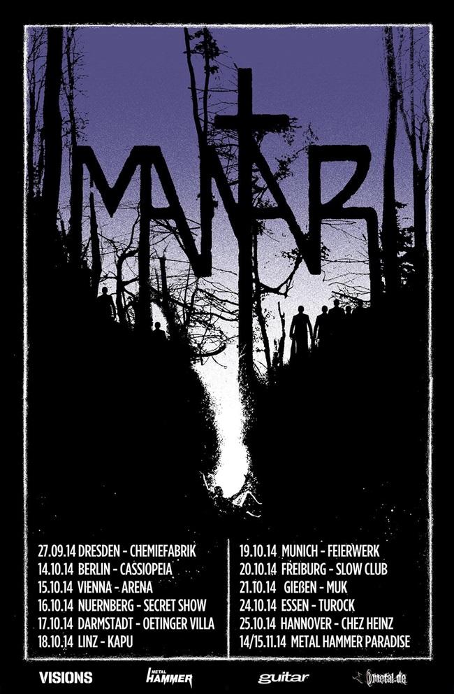 MANTAR: Tourdaten 2014, Verlosung für Hannover