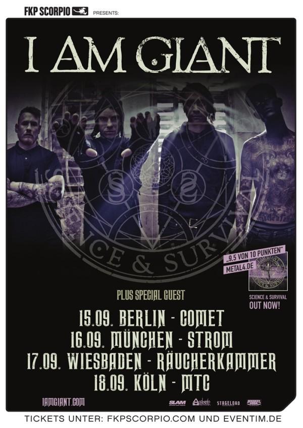 Verlosung für die I AM GIANT-Tour 2014