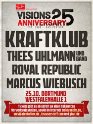 25 Jahre VISIONS Festival, Dortmund, Westfalenhalle, 25.10.2014