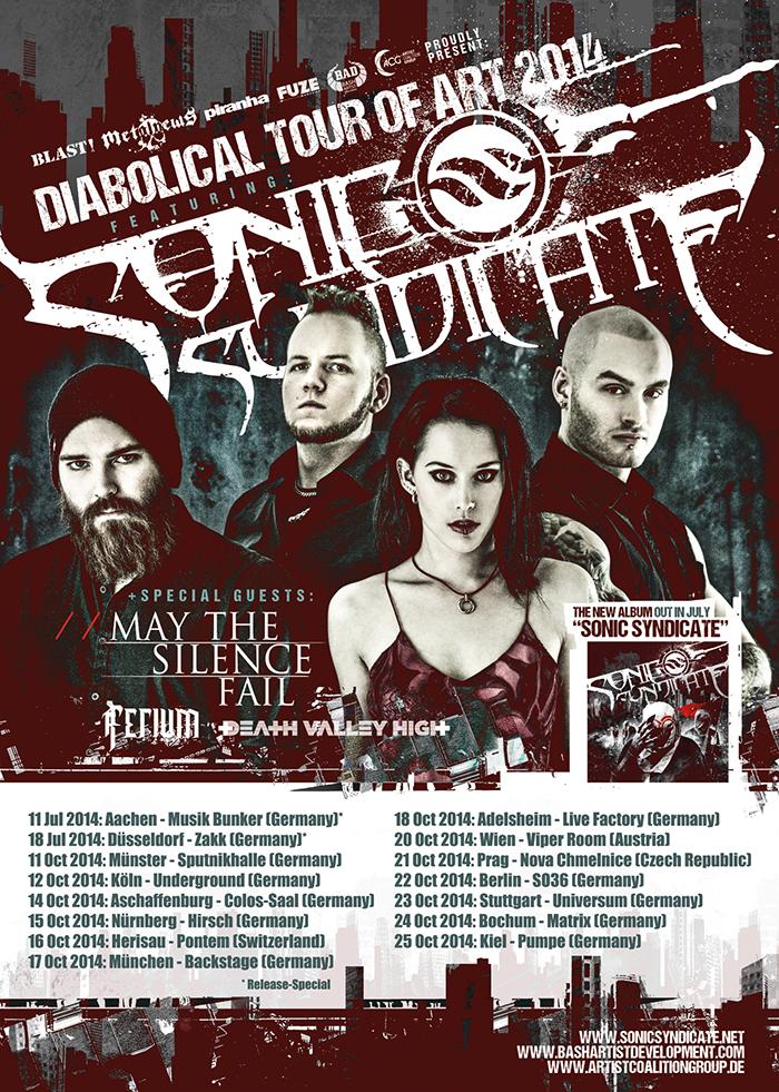 SONIC SYNDICATE: Verlosung zur Tour im Oktober 2014