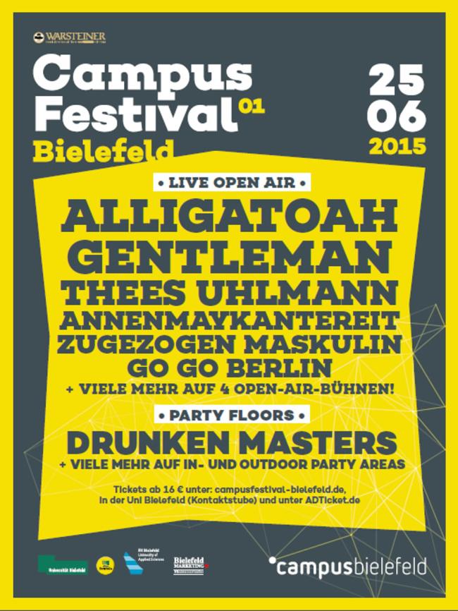CAMPUS FESTIVAL BIELEFELD 2015