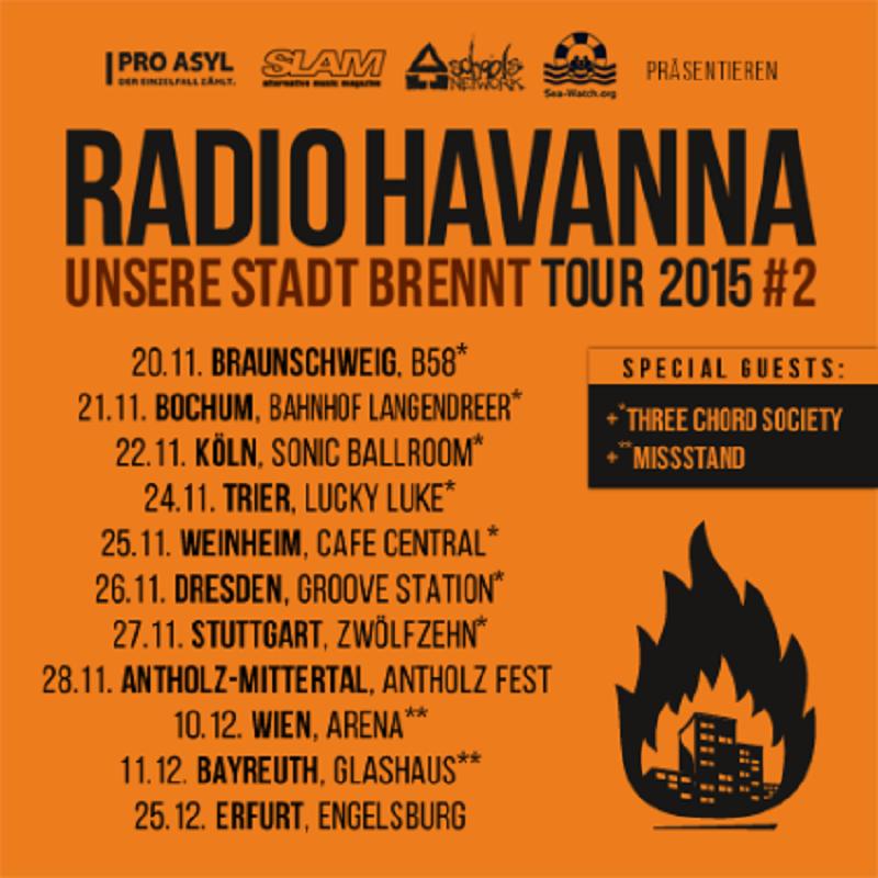 RADIO HAVANNA – Unsere Stadt brennt Tour 2015