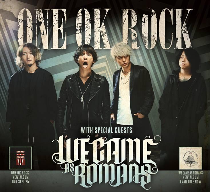 ONE OK ROCK und WE CAME AS ROMANS gemeinsam auf Tour