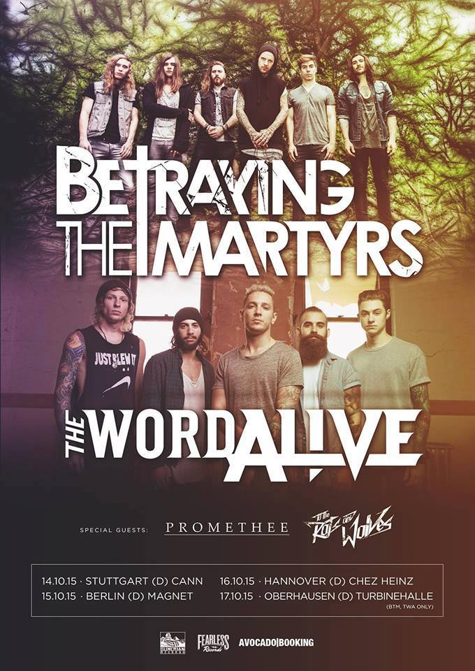 BETRAYING THE MARTYRS, THE WORD ALIVE, Hannover, Bei Chéz Heinz, 16.10.2015