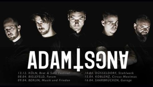 ADAM ANGST im April auf Tour