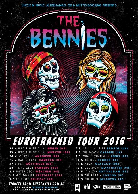 The-Bennies-euro-tour-poster