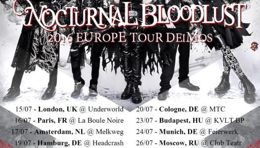 NOCTURNAL BLOODLUST auf Europa-Tour