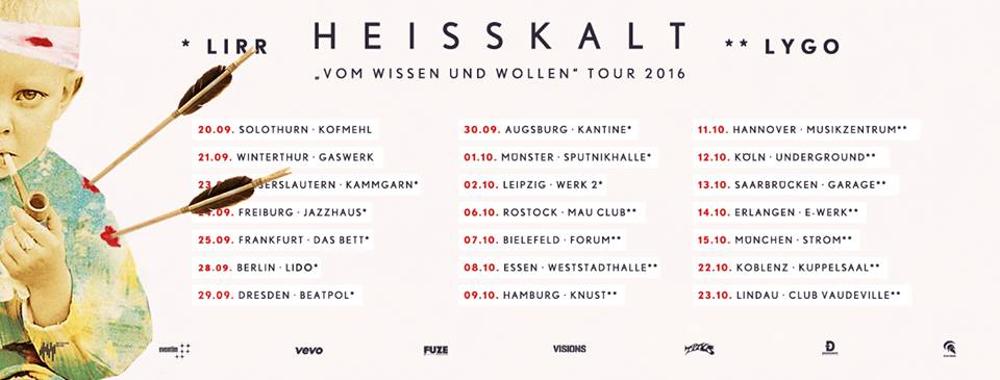 HEISSKALT Tourneedaten